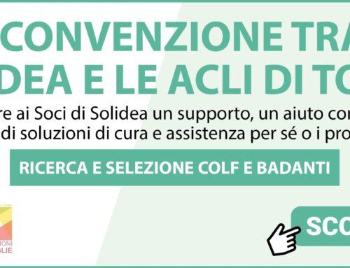 """RICERCA COLF E BADANTI CON """"SOLUZIONE FAMIGLIA"""" DELLE ACLI"""